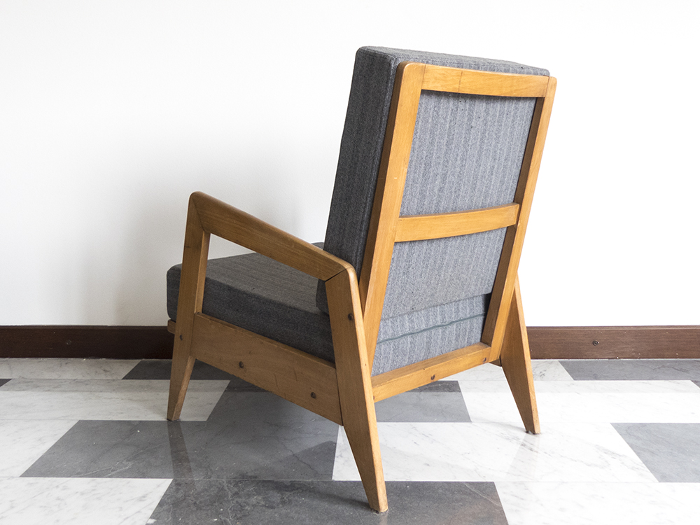 Set Of 2 Architectural Wooden Armchairs, 1940s By Italian Designer | 1+1  Historical Design Gallery