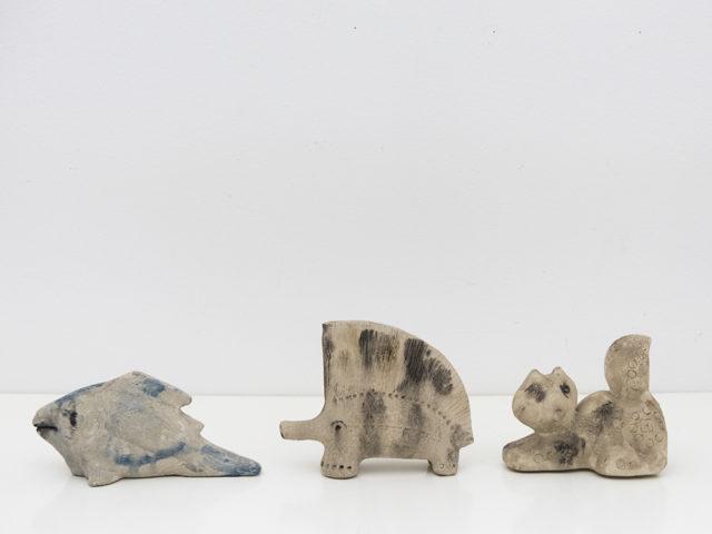 """Set of 3 """"scavo"""" ceramic animals for Bitossi"""