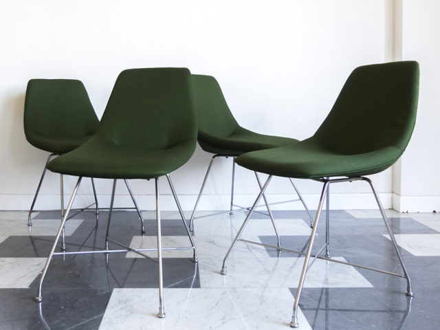 "Set of 4 ""Athena"" chairs for Saporiti"