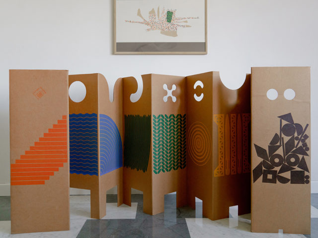 """""""Il posto dei giochi"""" folding screen for Danese"""