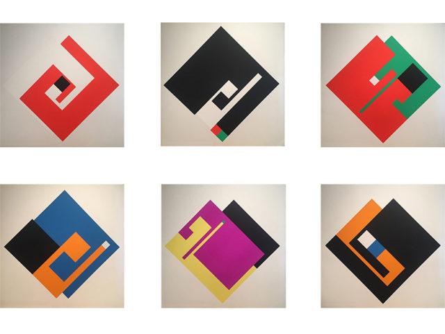 "Complete set of 6 ""Positivo Negativo"" silkscreen prints for Danese"