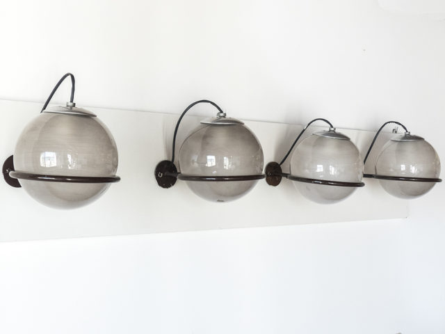 Set of 4 model 238/1 wall lights for Arteluce