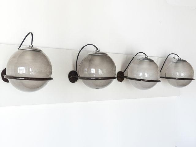Set of 4 model 238/1 wall lights for Arteluce