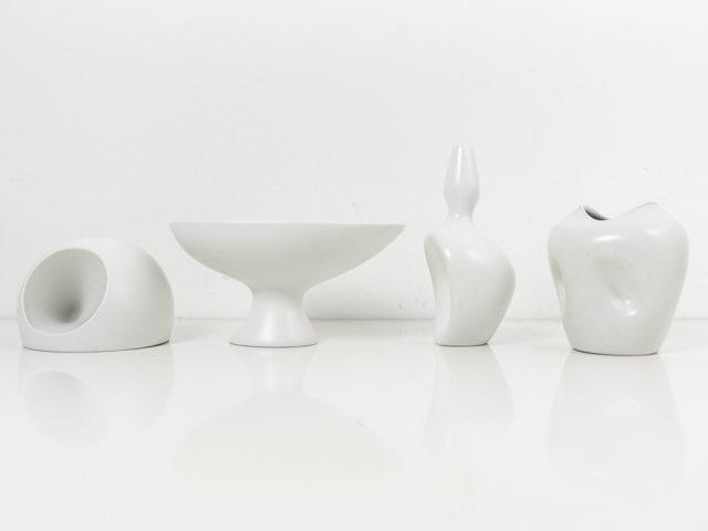 Set of 4 organic ceramics for Ceramiche Pozzi