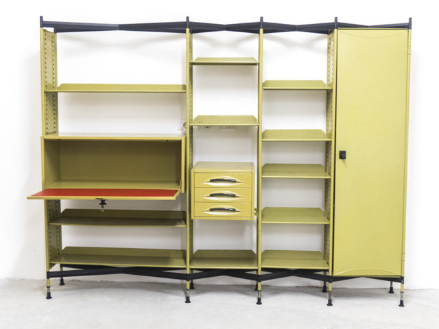 """Spazio"" Shelving System with Lockers and Drawers for Olivetti Synthesis"