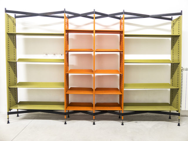 "Combinable ""Spazio"" Shelving System for Olivetti Synthesis"