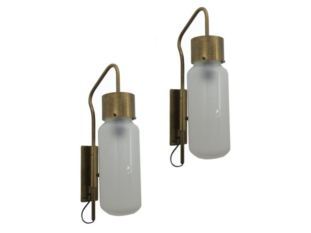 "Set of 2 early LP 10 ""Bidone"" wall lights for Azucena"