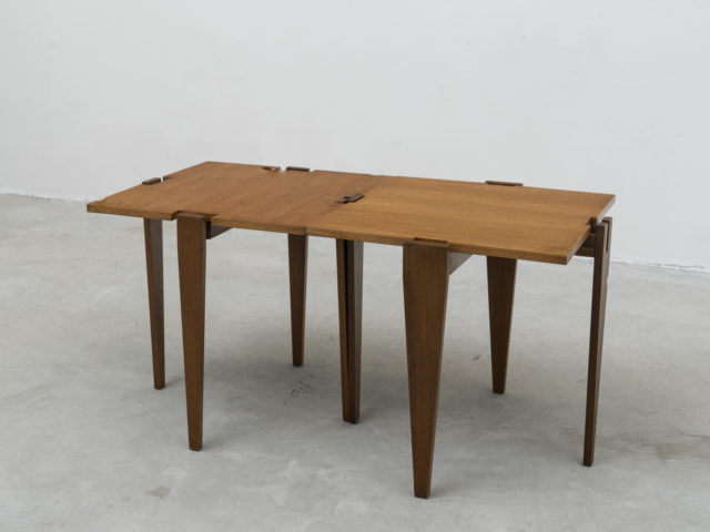 Pair of combinable side tables for Frangi Milano