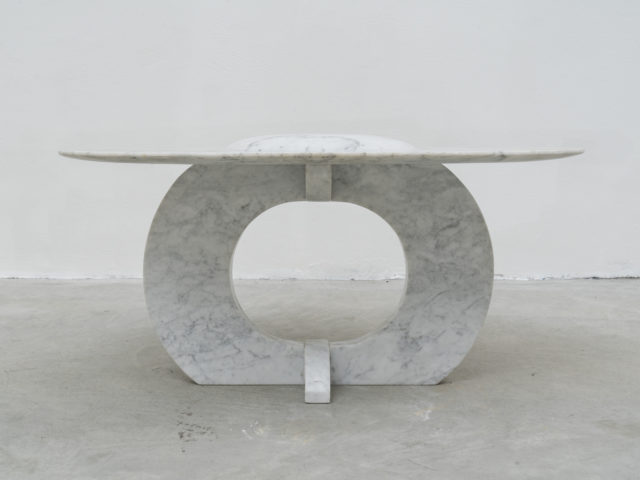 Unique Carrara marble coffee table
