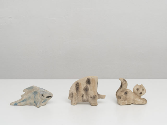 "Set of 3 ""scavo"" ceramic animals for Bitossi"