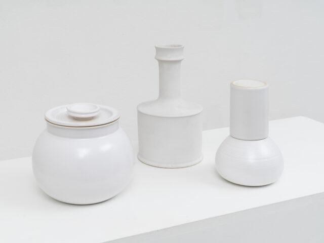 Stoneware vase, pitcher and ashtray for Laboratorio Pesaro