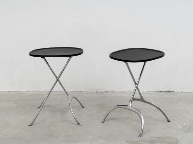 "Pair of ""Leopoldo"" occasional tables for Kartell"