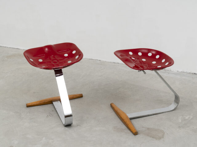 Pair of Mezzadro stools for Zanotta