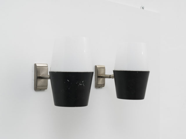 Set of 2 adjustable wall lights