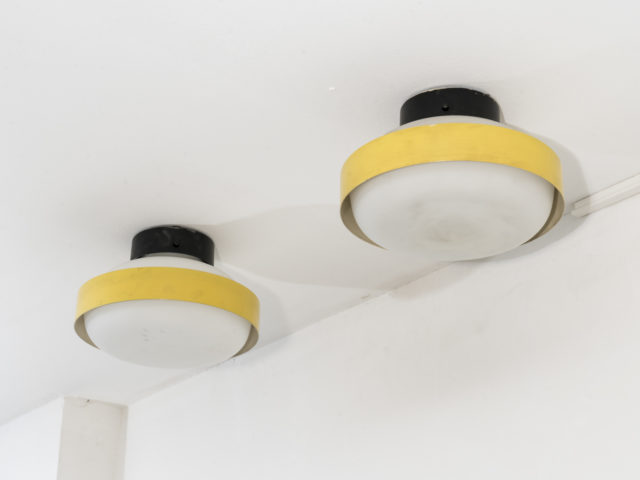 Pair of 3010 ceiling lights for Arteluce