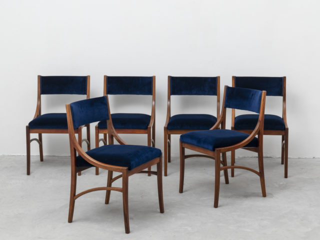 Set of 6 chairs for Spartaco Brugnoli