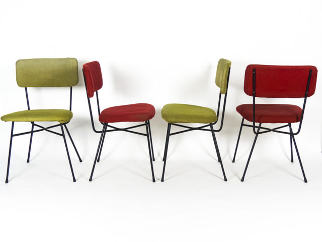 Set of 4 Elettra chairs for Arflex