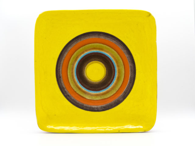 Large striped ceramic centerpiece or wall plate