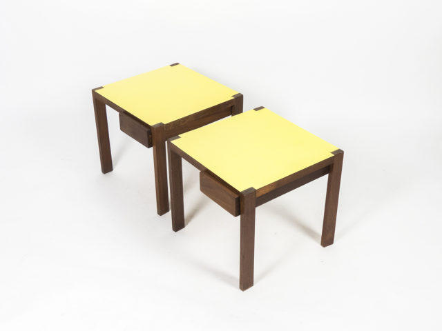 Rare pair of side tables for Fantoni