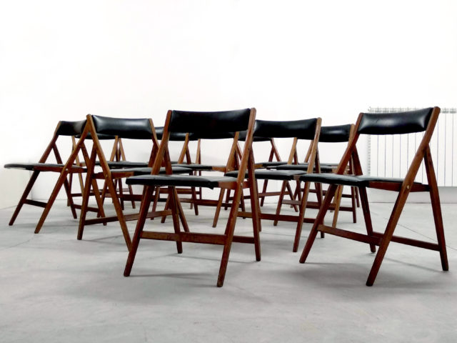 "Set of 12 ""Eden"" chairs for Reguitti"