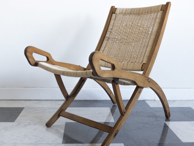 """Ninfea"" foldable armchair for Fratelli Reguitti"