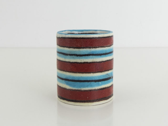 Small striped vase