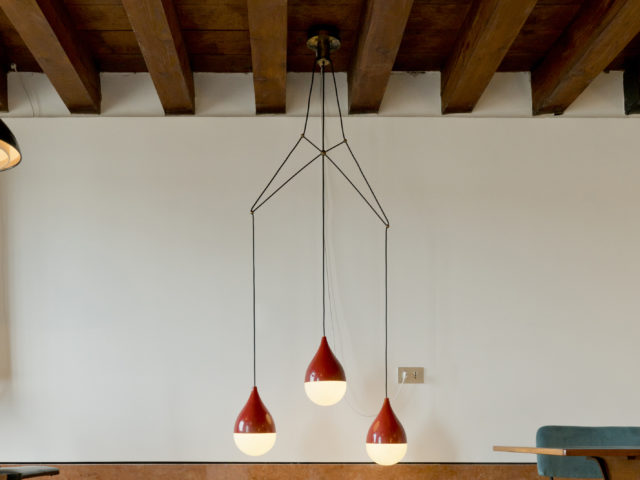 Rare Chandelier for Stilnovo