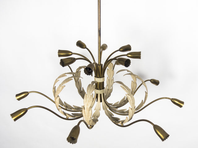 16-lights Brass Chandelier