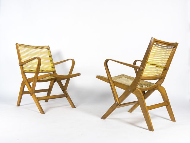 Pair of prototype mod. 100 armchairs for Stol Kamnik