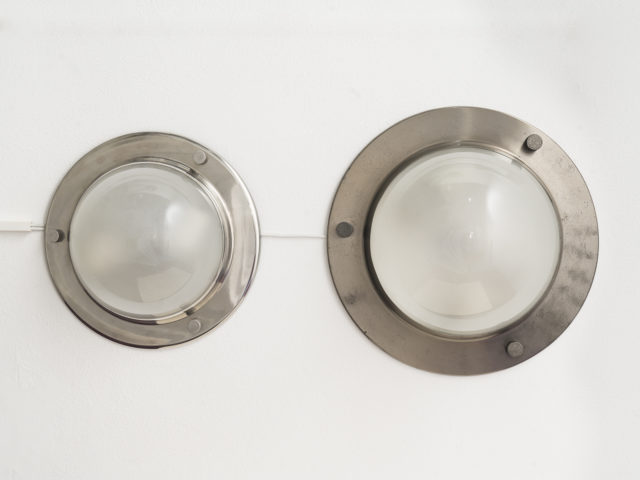 "Pair of mod. LSP 6 ""Tommy"" ceiling or wall lamps for Azucena"