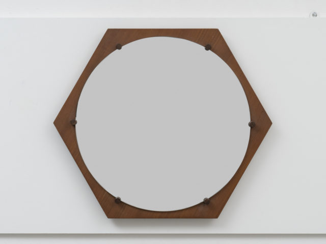 Hexagonal wall mirror