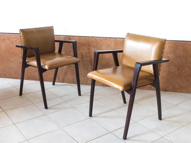 "Set of 2 ""Luisa"" armchairs for Poggi"