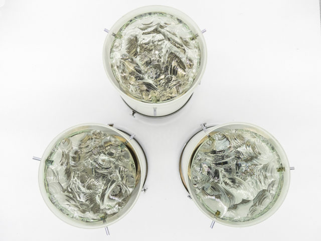 Set of 3 mod. 2494 ceiling or wall lights for Fontana Arte