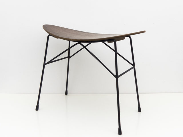 Plywood and metal stool