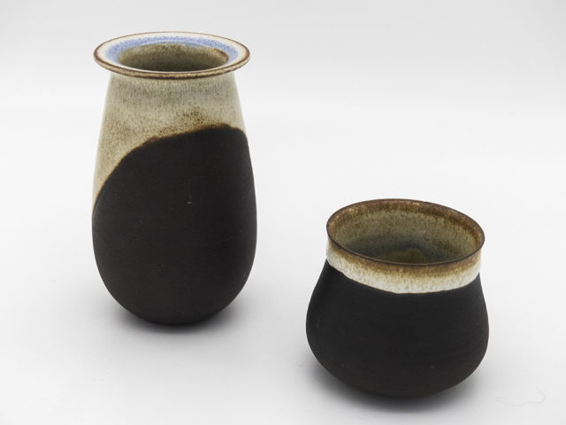 Set of 2 small vases for Ceramica Arcore