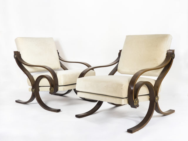 "Rare pair of ""Arcadia"" armchairs for Adrasteia"