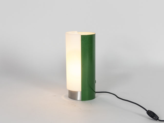 Metal and perspex table lamp for Stilux Milano