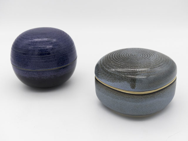 Set of 2 small lidded boxes