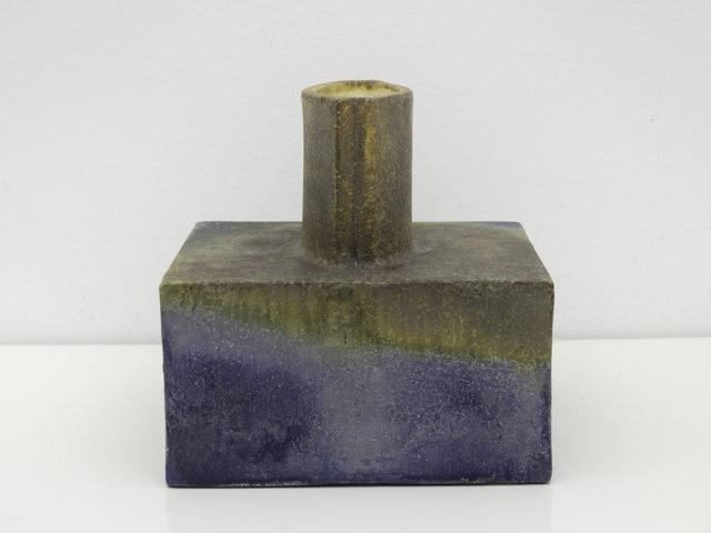 Brutalist square vase